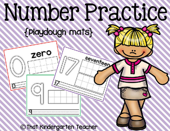 Number Practice {play dough}