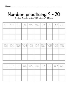 Number Practicing
