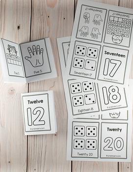 Number Print & Fold Mini Books