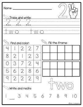Number Printables {0-20}