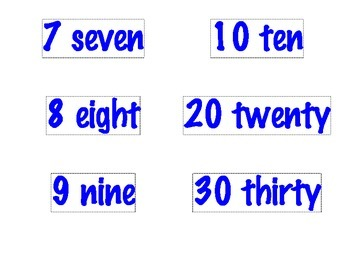Number Printables