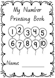 Number Printing Handwriting Book 1 – 10 in VICTORIAN MODERN CURSIVE  font