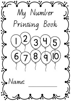 Number Printing Handwriting Book 1 – 10 in VICTORIAN MODER