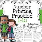 Number Printing Practice