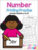 Number Printing Practice Worksheets