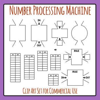 Number Processing Math Machine or Rule Machine Maths Clip Art Commercial Use