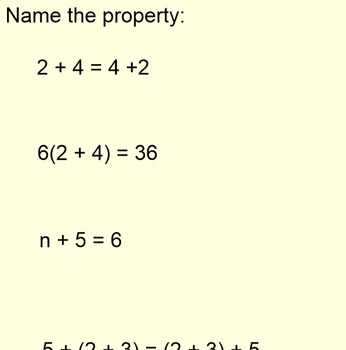 Number Properties (7-1.1) with a Foldable