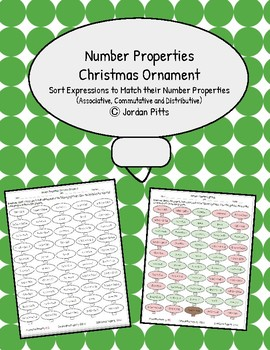 Number Properties Christmas Ornament - Coloring Sheet