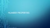 Number Properties- Communicative, Associative, Identity, D