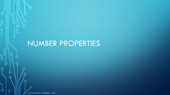 Number Properties- Communicative, Associative, Identity, D