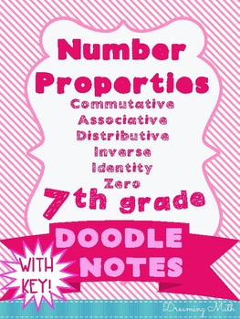 Number Properties Doodle Notes