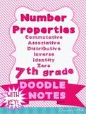 Number Properties Doodle Notes