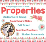 Number Properties EVERYTHING Notes Smartboard Slides Practice Stations Centers