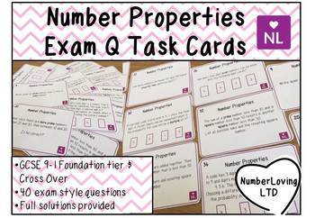 Number Properties, Factors, Multiples, Primes Exam Question Task Cards