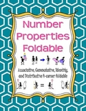 Number Properties Foldable: Associative, Commutative, Identity, and Distributive