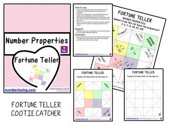 Number Properties (Fortune Teller/Cootie Catcher)