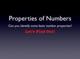 Number Properties - Keynote to Review or Assess Prior Knowledge