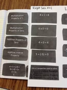 Number Properties Matching Game & Math Journal