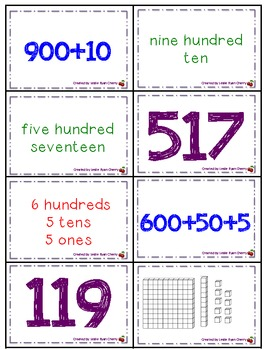 Number Properties Memory - Aligned with 2nd Grade Common Core Standards