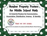 Number Properties Posters - Middle School Math