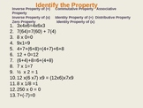 Number Properties:  Power Point Practice Quizzes