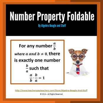 Number Property Foldable