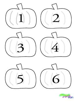 Number Pumpkins