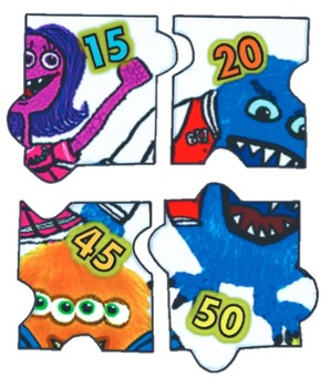 Number Puzzle: Skip Counting By 5's