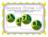 Number Puzzle Circles 1-10 in English and Spanish