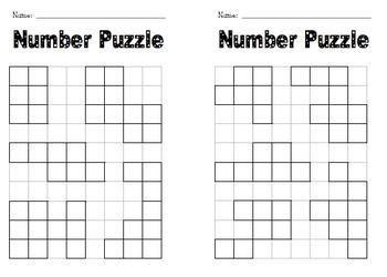 Number Puzzle Frames