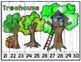 Number Puzzle Strips:  Camping Theme