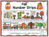 Number Puzzle Strips:  Fall Theme