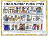 Number Puzzle Strips:  School
