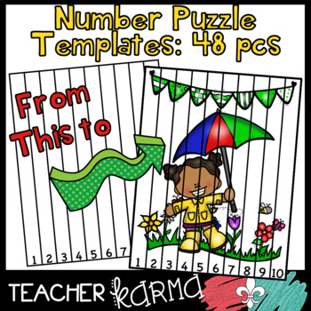Number Puzzle Templates BUNDLE &  Seller's Kit