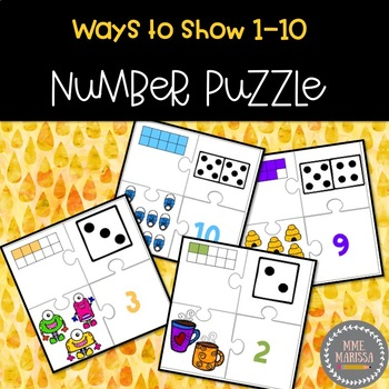 Number Puzzle (Ways to Show 1-10)