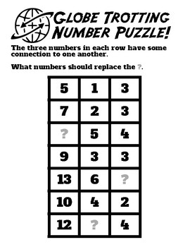 Number Puzzle with Algebraic Thinking, featuring The Having of Wrong Answers