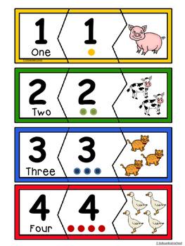 Number recognition  Puzzles 0-10- BUNDLE
