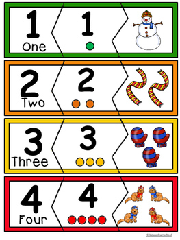 Number Puzzles 0-10 - Winter Edition