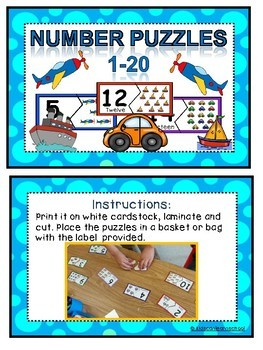 Number Puzzles 0-20- Transportation edition