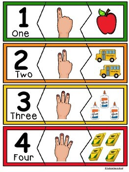 Number Puzzles 1-10-AUSLAN NUMBER SIGNS- Back to School Edition