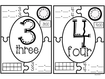 Number Recognition: Interactive Number Puzzles 1-10