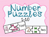 Number Puzzles 1-10 Math Center
