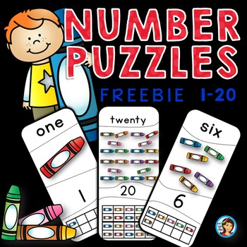 Number Puzzles (1-20) Back to School Free Set
