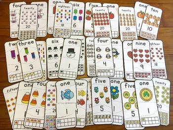 Number Puzzles (1-20) Bundle | Seasonal Sets