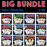 Number Puzzles (1-20) Bundle | Seasonal Sets