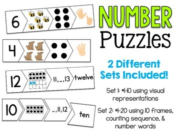 Number Puzzles 1-20 CCSS