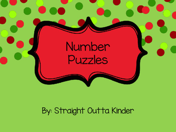 Number Puzzles 1-20 Christmas Candy Themed