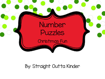 Number Puzzles 1-20 Christmas Fun