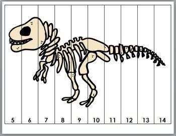 Dinosaur Math Number Puzzles 1-20