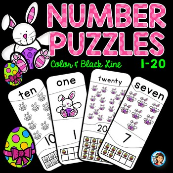Number Puzzles 1 - 20 Easter Bunnies